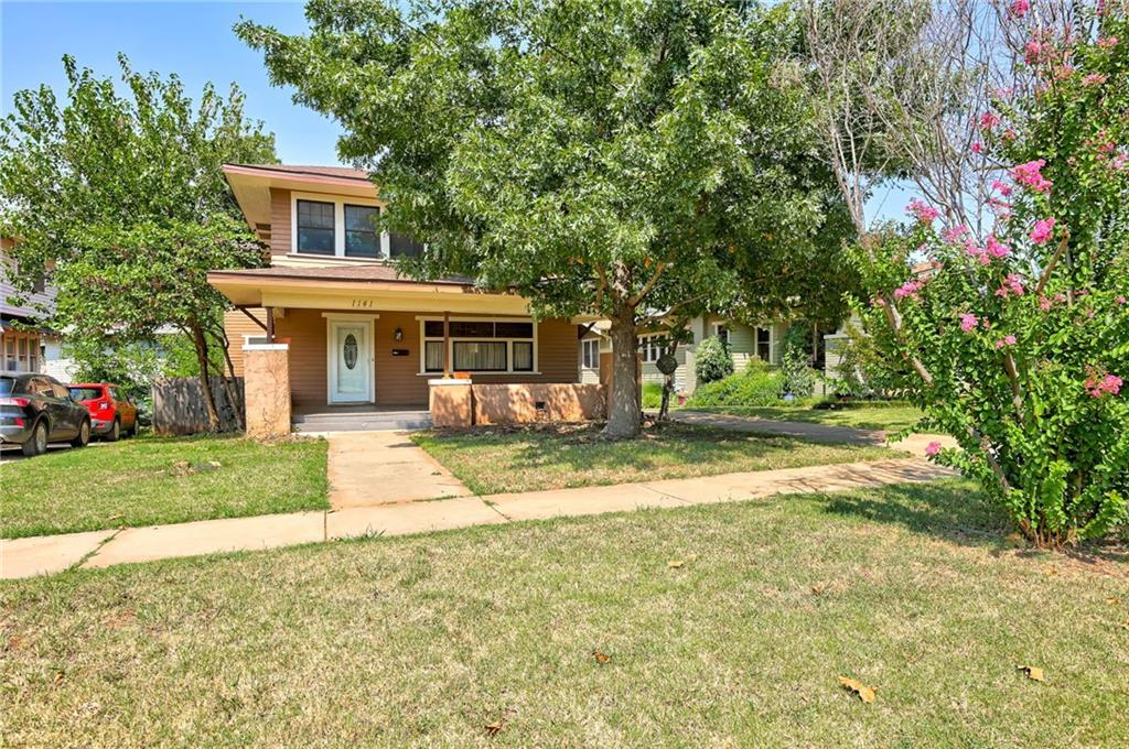 Beautiful century-old home in the Urban Core backing to Memorial park with historic charm that has been restored and includes a 440 sf guest house or Air BNB (not included in the square foot) which is fully equipped with kitchen, bath, bedroom, living space.  You are welcomed by the large inviting wood porch to the beautifully refinished wood floors throughout.   Front and back staircase to the second level.  Lots of history and charm to this beautiful home.  Lots of recent repairs/maintenance complete so ready for you to make yours!   The park has splash pad, swings, trails.
