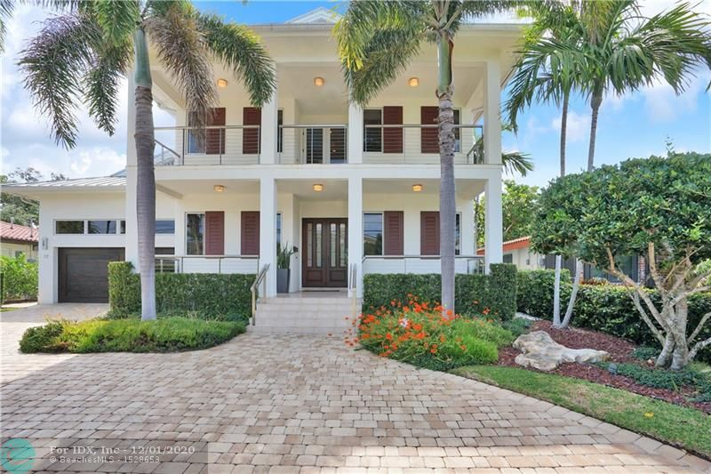 2008 Key West inspired deepwater estate with the BEST first and second floor outdoor living areas. Extensive 20FT deep x 40FT wide porches on BOTH floors front & back offer expansive views of the Rio Canal and Solar Isle. Owner is currently building brand new seawall & extended synthetic wooden dock while updating the interior of the home with a more modern look by staining the wood floors, updating light fixtures & walls. Hardwood floors cover all of the main living areas & bedrooms. Additional features include a two story living room, gourmet eat in kitchen with stainless appliances adjacent to formal dining room, 4 bedrooms with baths en suite, large walk-in closets in every room, 2 laundry rooms, ample storage & office. High ceilings in garage can accommodate lifts for additional cars.