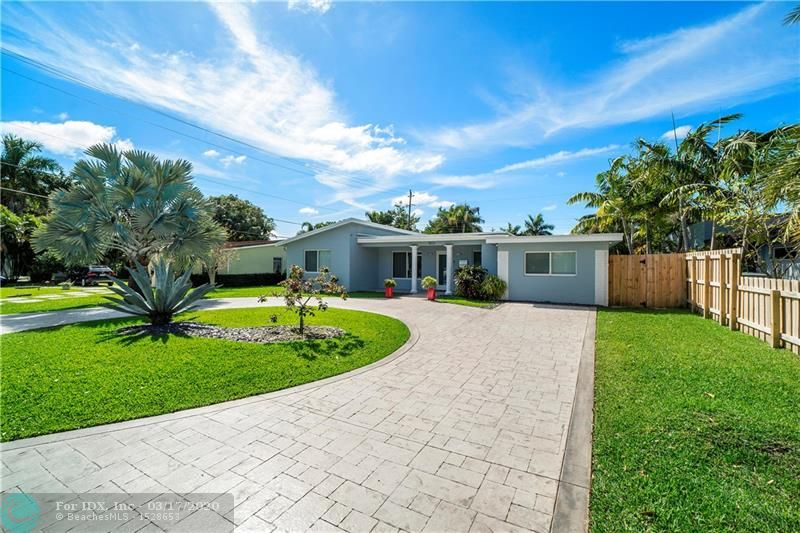 EAST WILTON MANORS BEAUTY! THIS MODERN MASTERPIECE OFFERS A SPLIT FLOOR PLAN WITH 3 SPACIOUS BEDROOMS AND 2 SUMPTUOUS BATHS. YOU WILL ABSOLUTELY FALL IN LOVE WITH THE NEUTRAL TONES AND WARM PALETTES! UPDATES INCLUDE GORGEOUS PORCELAIN FLOORING AND HURRICANE IMPACT WINDOWS/DOORS T/OUT, DUAL ZONE AC(2016)/UPDATED ELECTRICAL, NEW ROOF(2017), ELEGANT INTERIOR DOORS AND HIGH END FIXTURES, HUGE WALK IN CLOSET, ALONG WITH SS APPLIANCES AND FRONT LOADING WASHER/DRYER! FANTASTIC FLORIDA ROOM PERFECT FOR RELAXING.  EXTERIOR FEATURES OF THIS HOME OFFER A GORGEOUS DRIVE WITH PARKING FOR 8 CARS, NEW EXTERIOR FENCE, NEST SECURITY SYSTEM WITH 5 CAMERAS, LARGE ATTACHED STORAGE ROOM, AND PLENTY OF ROOM FOR A POOL--FRESHLY PAINTED! MOTIVATED SELLER SO HURRY AND SEE THIS AWESOME PROPERTY BEFORE IT IS GONE!