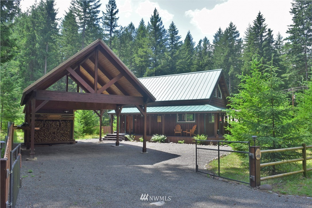 Exceptional cabin in Packwood WA. Close to HOA amenities such as pool, golf, clubhouse, Cowlitz river access. 30 minutes to White Pass skiing & Mt Rainier nat park. 2 1/2 hours to SEA & PDX. This cabin features 1 Bdrm, 1 bath, loft with sleeping space, covered wrap around porch, hardwood floors, utility room, double lot, carport, two sheds, gazebo, fire pit, and more. Appliances and most furniture are included with sale. This home is essentially turn-key and is a successful vacation rental.