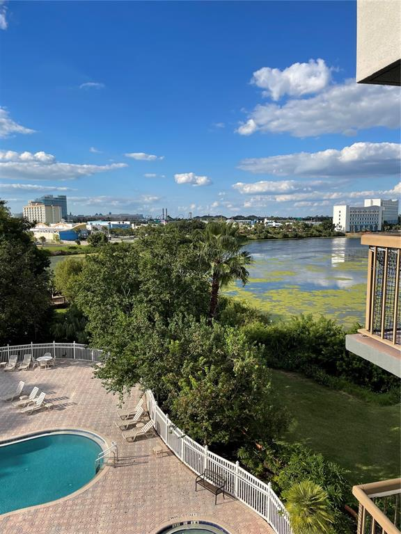 POND, AND POOL VIEW UNIT FOR SALE. JUST RENOVATED WITH GRANITE COUNTER TOPS in the beautiful Enclave At Orlando Resort, up on the 5t floor, in the sought after building 2. New Kitchen, renovated bathroom, new tiled flooring, and just refurbished, this one bedroom, one bathroom suite pours out on to a beautiful oasis of lake, and pond balcony view. Perfect location in the Enclave, and perfect location in the heart of the attractions. Stroll to a bountiful of restaurants, and shops on International Drive, and Universal Blvd . Minutes from Universal Studios Orlando, and Universal's new water park, Volcano Bay, 3 miles from Sea World, the Enclave will steal your heart for location. The secluded Enclave Resort of Orlando boasts 3 swimming pools, 4 jacuzzis, one heated indoor pool, one indoor jacuzzi, with indoor showers, gym, indoor bar, cafe, pool side tiki bar , pool side games with billiard table, and two tennis courts. Own a piece of the magic in the very center of Orlando resort area.