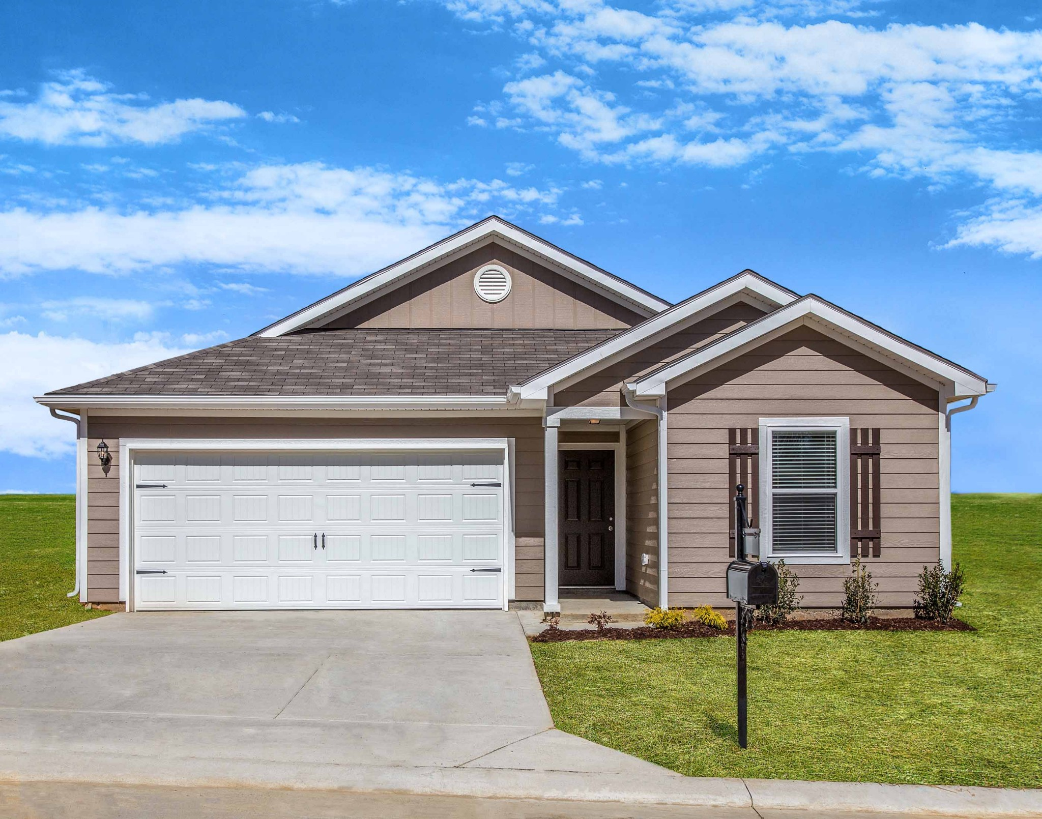 Enjoy single-story living in the Clairborne plan at Honey Farms! This beautiful home has 3 bedrooms, 2 full baths, a large, open layout and an attached 2-car garage, all on one story! In addition, this home comes with an abundance of included upgrades at no extra cost.