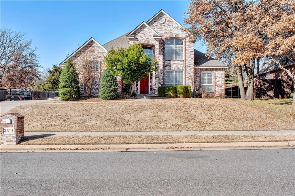 """This is a Beautiful home  located in one of Edmond's most impressive neighborhoods - Steeplechase Addition.  Steeplechase is a Gorgeous neighborhood full of amenities ... a community park, pool, clubhouse, walking trails and plenty of trees right next to the Golf Club of Edmond.  Located in an Excellent grade""""A"""" school district and within minutes of !-35.  This 4 bedroom, 2 1/2 bath home has a split floor plan with the MasterSuite downstairs and secondary bedrooms on the upper level.  Large windows throughout provide an abundance of natural light and give a warm and inviting feel to the home.  Plantation shutters, an oversized garage and a brand new roof - September 2019!!!  This elegant Steeplechase home is a MUST SEE!!!"""