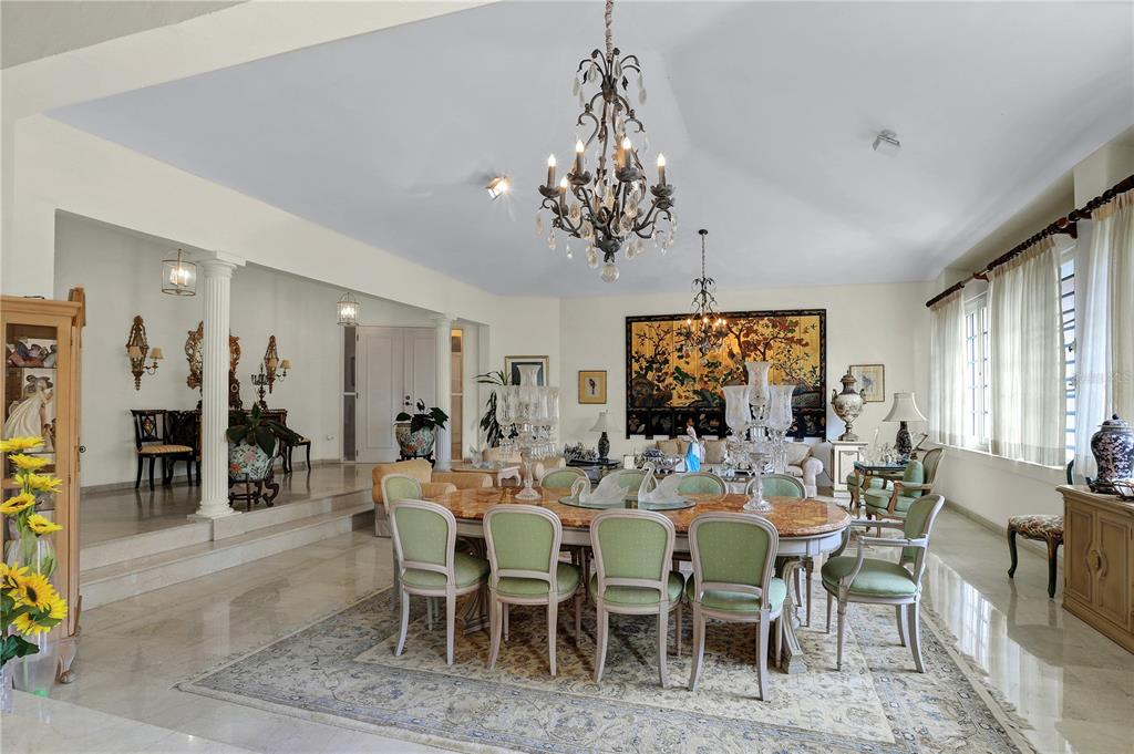Elegant corner, with of 2,730sm and 5000sf of construction. Very large patio with beautiful garden, swimming pool, guest apartment, closed and open garage, gates, large and open terraces, electric power plant, marble floors, high ceilings. 24/7 security. Many possibilities. Be amazed by looking for its aerial view at GPS Coordinates 18.4107347, -66.0761022
