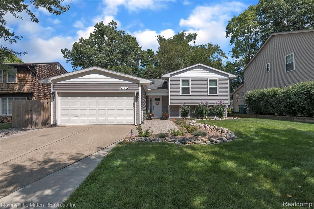 ***MULTIPLE OFFERS RECEIVED.  HIGHEST AND BEST DEADLINE SET FOR SUN, SEPT 13TH AT 5PM***Here's your chance to own a private oasis on all-sports Ford Lake! This 3 bed, 2 bath quad-level has been COMPLETELY REMODELED from floor to ceiling!  Amazing curb appeal, with paver sidewalk leading to a covered front porch! Upon entry, you can see through the open concept living space and out onto the stunning nature and water views! The main floor boasts hand-scraped hardwood floors and quartz kitchen with stainless appliances. Living room features built-in shelving unit and ventless fireplace. Upper floor offers 2 LARGE bedrooms and full bath. Lower level is a master bedroom suite with gorgeous bath that features dual vanities, soaking tub and walk-in closet. The master bedroom offers a sliding door with stunning lake views, steps to the patio with firepit and hot tub!  The backyard TRULY is an OASIS!!! Plus, floating dock and boat lift!
