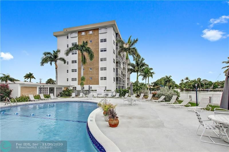 Ground floor corner unit ready for your finishing touches.  River Shores Condominium is ideally and conveniently situated in the City of Oakland Park Florida bordering Wilton Manors on the North Fork of the Middle River which flows into the Intracoastal Waterway and access to the Atlantic Ocean. Located on 9 acres with many amenities including pool, exercise room, club room and more.  Internet and satellite TV included. Ideal location close to The Drive, beach, shopping and more!