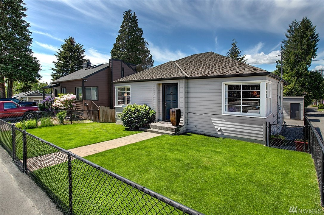 Prime location in Olde Burien, with excellent investor/development opportunity. Zoned RM24 for town homes.This current residential unit is 2 beds, 1 bath up.Large deck off rear of upper unit with fully fenced front yard.  Lower unit is fully remodeled with 2 bed 1 bath.  Both units have washer & dryers.1000 sq ft detached garage. Great for storage/shop area. Perfect property to owner occupy with supplemental rental income.Current owner does VRBO & Airbnb part of the time. Close to all amenities.