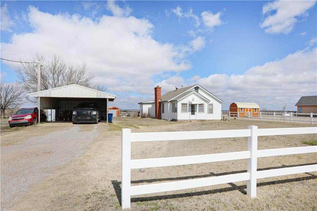 Beautiful farm house on 1 acre with storm shelter, and basement, currently with long term tenants who would like to stay. Rented for 850/month. PLEASE DO NOT DISTURB TENANTS! 3 bed, 2 bath, 1290 sqft. Large bedrooms. Master has private bathroom. Metal two car, carport covered on 3 sides. This home is in a perfect location! Newcastle Schools, 5 mins from HWY 9 and 8 mins from Newcastle. Perfect investment for a portfolio or a family who is wanting to built instant equity.. Selling AS-IS.