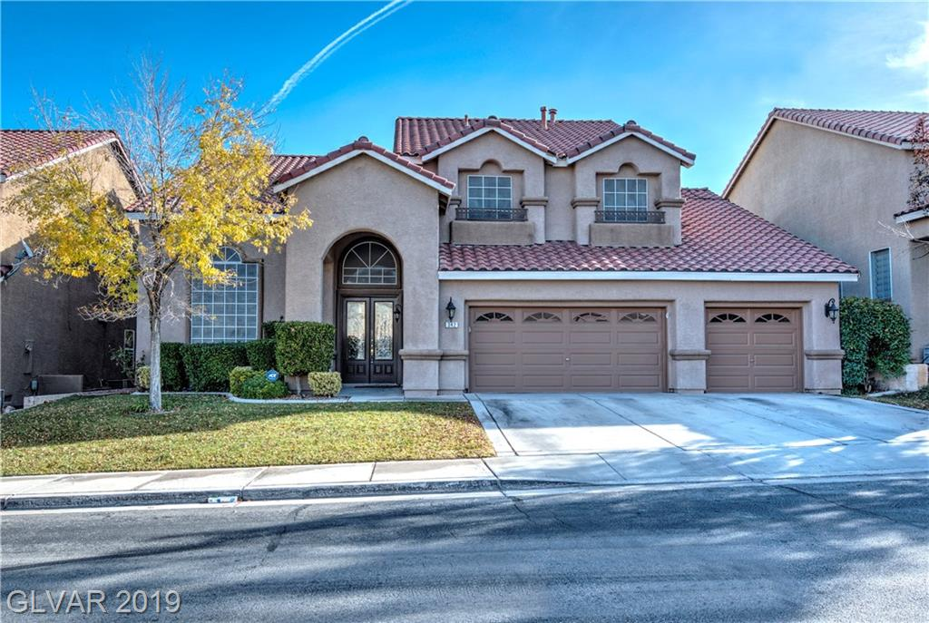 Beautifully upgraded property in coveted Carriage Club Green Valley Ranch community. 4 bedrooms (one downstairs) and 3 full bath. Designer touches throughout. Upgrades galore - with a custom entertainment center, custom master closet and beautiful kitchen. Lush and large backyard with mature landscape, built in BBQ and beautiful pool/spa. Zoned for top rated schools in Clark County. Easy access to community parks and walking trails.
