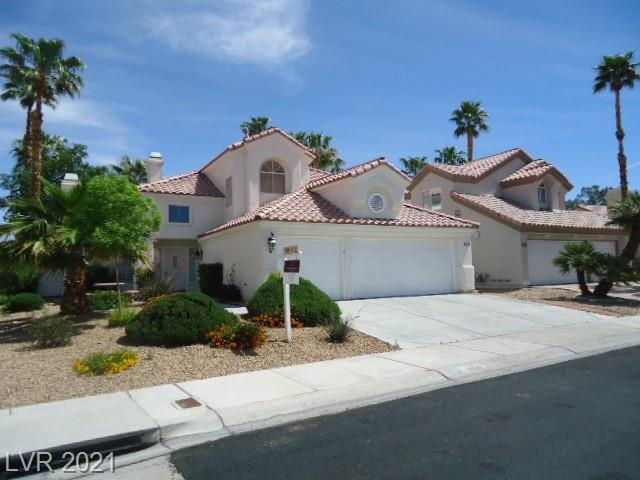 A Winner!!!  2 story, 4 bedroom, 3 bath, 3 car garage w bedroom & full bath down, fully landscaped front & back w built in gas BBQ.  Located in Shoreline Estates in the Master Plan of Desert Shores in NW Las Vegas.  2 fireplaces, vaulted ceilings, stainless steel appliances, french doors out to nice large backyard w mature trees & lots of shade, neutral custom paint, lots of tile, custom counters, garden window @ kitchen sink, lots of shutters, super location close to lake & community center w Sand Beach Pool & lots of Recreation activities!!!