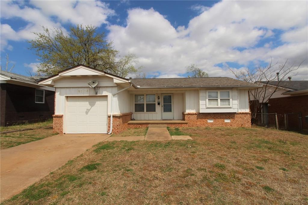 3 Bedroom home located close to Tinker Air Force Base and lots of Shops. Central Heat & Air Conditioning. Stove is supplied. Medium size back yard, Washer & Dryer connections in garage.  Security deposit is equivalent to one month rent. Application fee applies per adult.