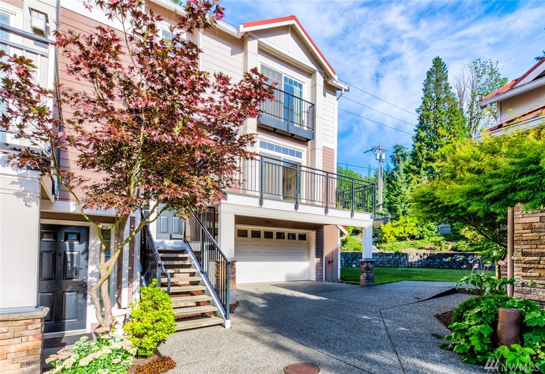 LOCATION, LOCATION, LOCATION! Centrally located corner townhouse in a secured gated community. Minutes walk to shopping and dining in Factoria Mall. Easy access to I-90 & I-405. Top rated Bellevue School District with Newport High, Tyee Mid and Woodridge Elem. The flexible floorpan includes 3 bedrooms, 2.5 baths, private patio, and an attached 2 car garage. With an abundance of natural light in the living room, a private, low-maintenance backyard and an updated kitchen, this is the ideal home!