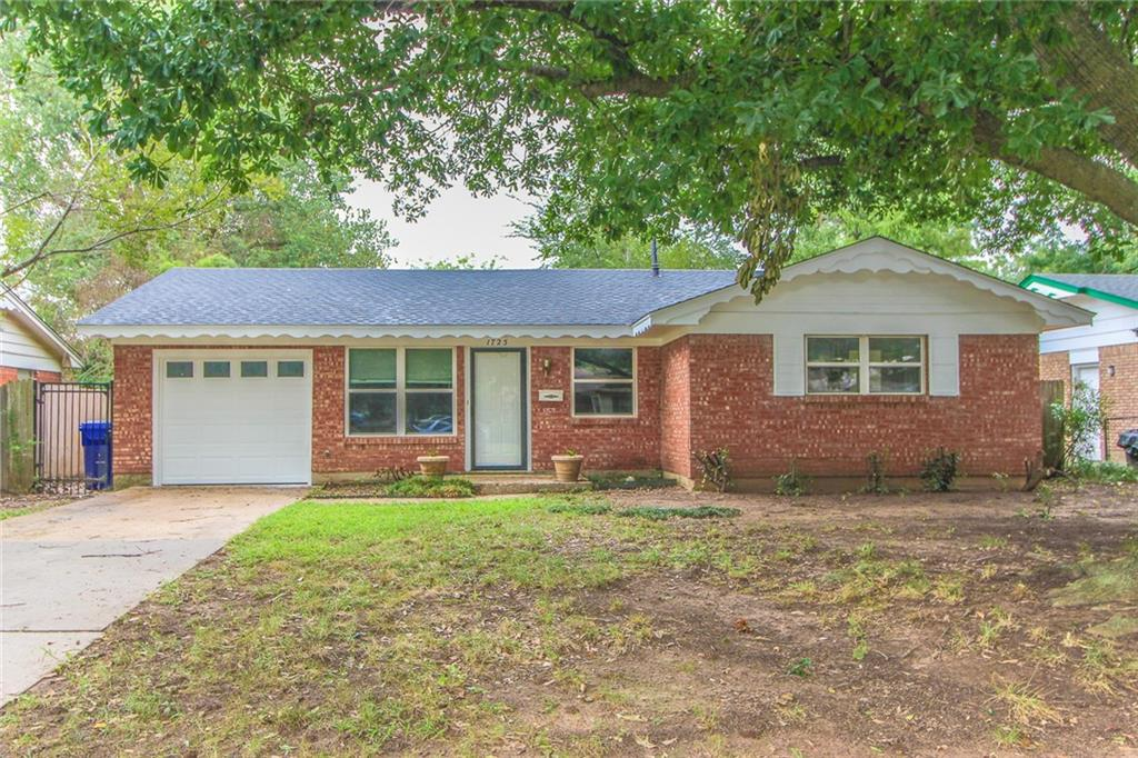 4 bedrooms, 1 1/2 baths in walking distance of OU and Madison School. Interior has been freshly painted. One of the bedrooms could be a study. Kitchen and living room open together. Laundry located in garage. Refrigerator, washer and dryer included in as-is condition. Large back yard. Sq. footage shown as 1037 or 1071.