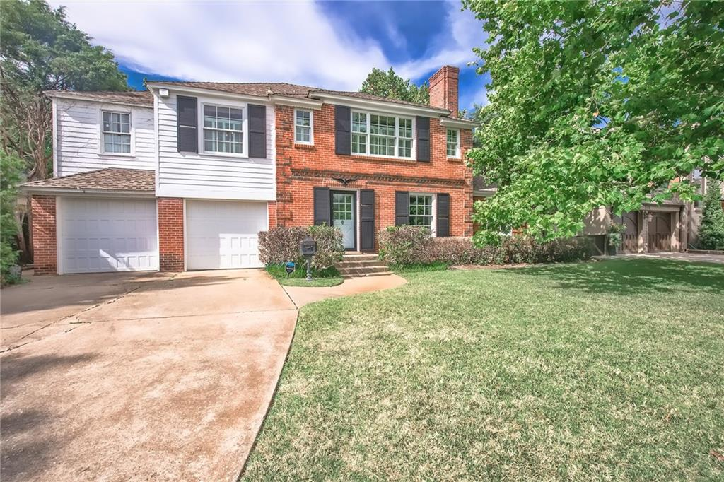 Wonderful opportunity to add your own personal touch to this Nichols Hills home located on a deep lot (70X165).  Home is a little under 2700 square feet with three living areas, three bedrooms and three & one half baths. Wood floors throughout. Great living or study on first floor which would work as an office as well. Family room has beautiful wall of windows overlooking the backyard as well as a fireplace. Master bedroom has nice sitting area and access to covered deck for relaxing and seeing the backyard. Master bath includes separate tub and shower as well as double vanities. Home is surrounded by larger homes many of which have been completely updated and remolded.