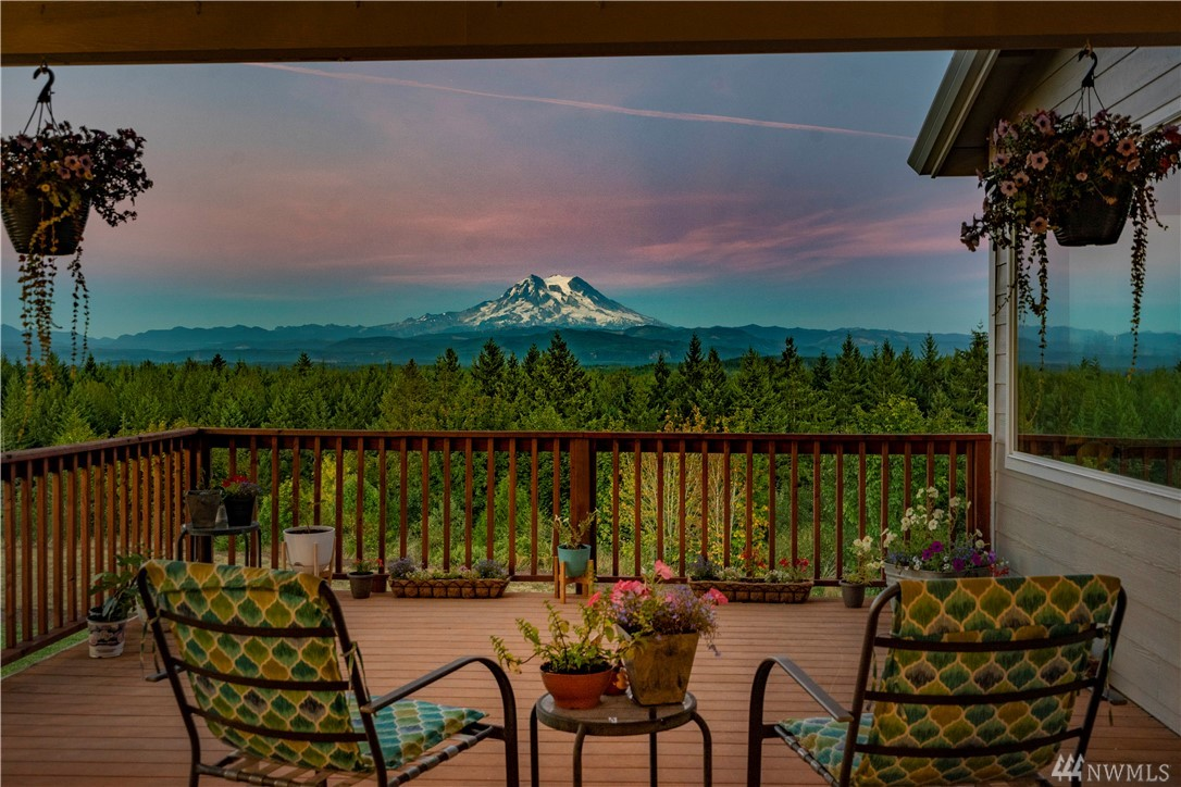 Brightly Updated Home on 10+ Acres in private gated community with BREATHTAKING Rainier views from every window! Also enjoy astounding views of the Olympics from the front yard! Fresh paint on the exterior and interior to make this sprawling home MOVE-IN Ready for You! Enjoy an ideal layout with the master at one end & 2 add'l bedrooms at the other end! Great room concept with an enclosed bonus room, true dining room, & 900sf bonus room above the oversized 2 car garage (w/storage & dog run!).