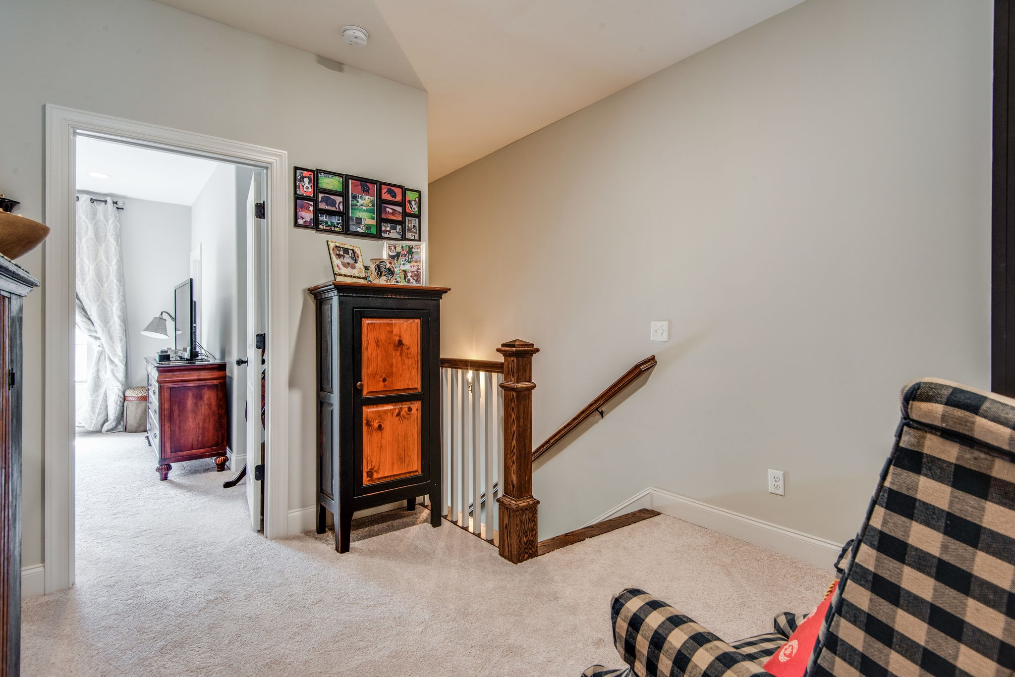 This is a WOW townhome w/tons of extras near downtown Franklin - in Gateway Village walking to  Herban Market and Sopapilla whether you want dinner or pick up groceries! This unit is perfection, custom built in 2019 with 40k in upgrades you have a Chef's Kitchen with quartz counters and open floor plan to Great Room or big Dining Area, Mst. has motorized black-out shades,Mst Bath w/ free-standing tub and jazzy faucet from the wall , sand & finish floors, sec. system, plantation shutters SHARP!