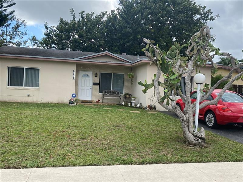 Located in the heart of Broward County, we welcome your buyers to this wonderful 3/2 waterfront single family home with pool.  As they walk through the front door they can enjoy the flow of fresh breezes coming from the windows straight across which overlook a large backyard with pool and water views perfect for entertaining.  The home features a split floor plan with a nice sized kitchen, newer bathrooms, tile and laminate flooring throughout as well as ALL hurricane impact windows, and much more!!  Former garage was converted into the 3rd bedroom with its own bathroom, windows, closets and separate entrance from the outside. Sold AS-IS with right to inspect.  Located near major roads, shopping and dining!  See broker remarks.