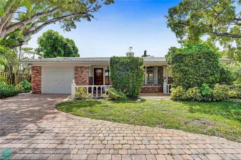 GREAT OPPORTUNITY TO OWN THIS CORNER, ALMOST DOUBLE LOT, 2/2 POOL HOME IN NORTH WILTON MANORS.  FIRST TIME ON THE MARKET IN ALMOST 50 YEARS.  THIS HOME HAS LOTS OF POTENTIAL TO CUSTOMIZE IT YOURSELF, RENOVATE, EXPAND OR BRING YOUR CONTRACTORS.  ORIGINAL TERRAZZO FLOORS, OVER-SIZED ONE-CAR GARAGE, OVER-SIZED LOT, LARGE PRIVATE POOL, LUSH LANDSCAPING, CIRCULAR PAVER DRIVE AND PLENTY OF PARKING.