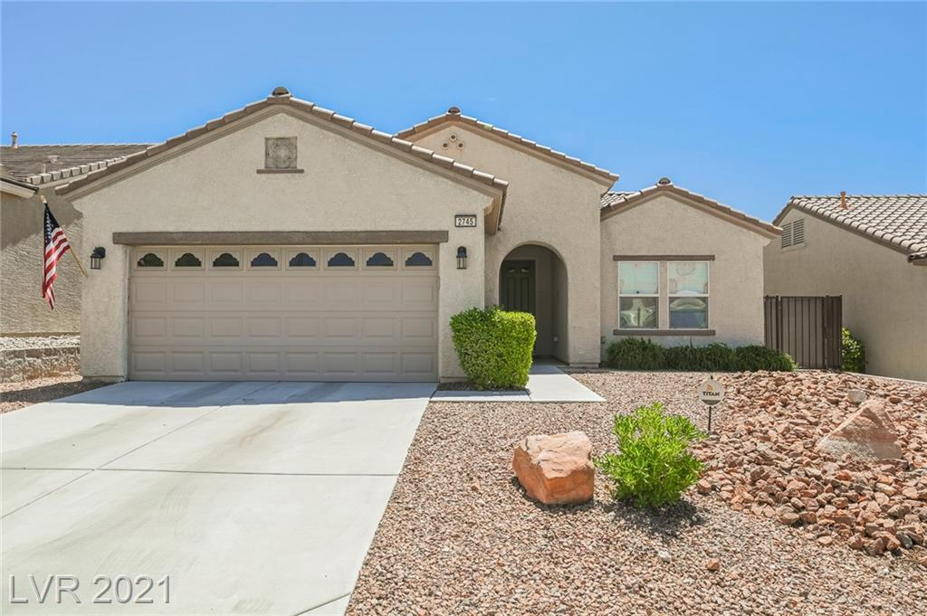 Beautiful 2 bedroom single story home in Sun City Anthem with amazing mountain views and amenities that include community pool, tennis court, clubhouse, fitness center and so much more! Walk inside to a stunning open floor plan with plantation shutters throughout. Spacious den features ceiling fan light and is the perfect office space! Lavish family room has ceiling fan light and is open to the kitchen boasts breakfast bar, pantry, stainless steel appliances, recessed lighting and dining area! Sliding door from dining area takes you to the outstanding backyard with rear lawn and covered patio! 2 bedrooms both with ceiling fan lights. Cozy private master bedroom has walk in closet and master bathroom with double sinks and walk in shower with with bench! This home won't last long, VIEW TODAY! *MOST FURNITURE TO STAY* *NEW WINDOWS AND SLIDING DOOR TO INSTALLED IN JUNE*