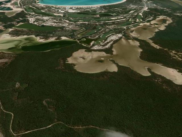 This location showcases elevated areas that yield views to emerald bay and the untouched southern coppice of Exuma. The owner has clear title, survey maps and civil design for a primary access road. Location should also yield a freshwater lens for pristine natural potable water.
