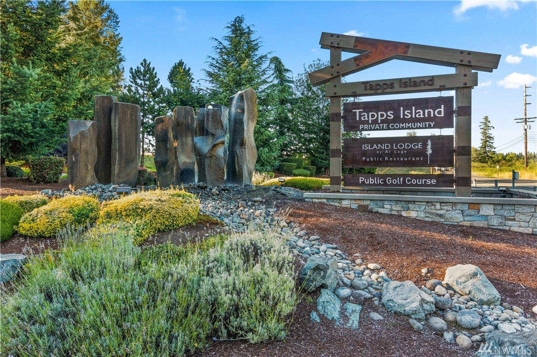 Desirable Lake Tapps Home! Beautiful 3 bdrm, 2.5 bth home w/many upgrades. 4 stall garage. Middle Stall is tandem for boat parking. Corian kitchen counter tops, lg office/den on the main. 2 FP in LR & DR w/vaulted ceilings & lots of natural sun light. Private bkyd w/mature trees & a lg deck for entertaining. Community offers club house, pool, 24/7 security, tennis, golf course, trails, boat launch & so much more. Many great memories to be made w/Tapps Island Living.