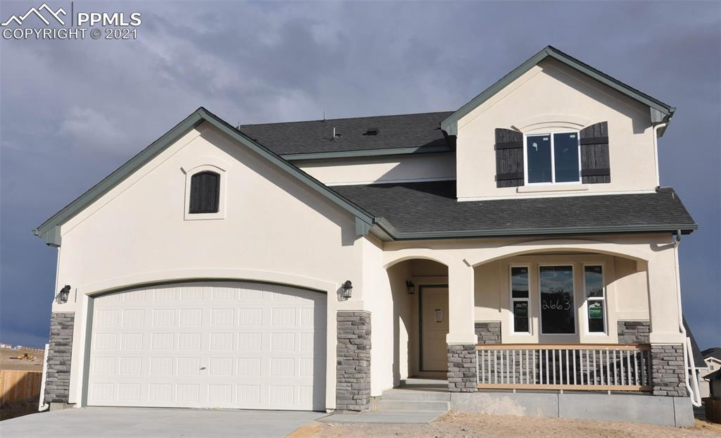Ready in November. Sierra 2-story plan with 2 car garage in Hannah Ridge. 5 bedrooms plus loft & study, 3.5 bath home.  Includes mudroom bench at owner's entry. Air conditioning. Gas fireplace in great room. Gas line to range.  Finished garden-level basement includes 1ft taller ceilings plus 2 bedrooms, 1 bath and large recreation room.