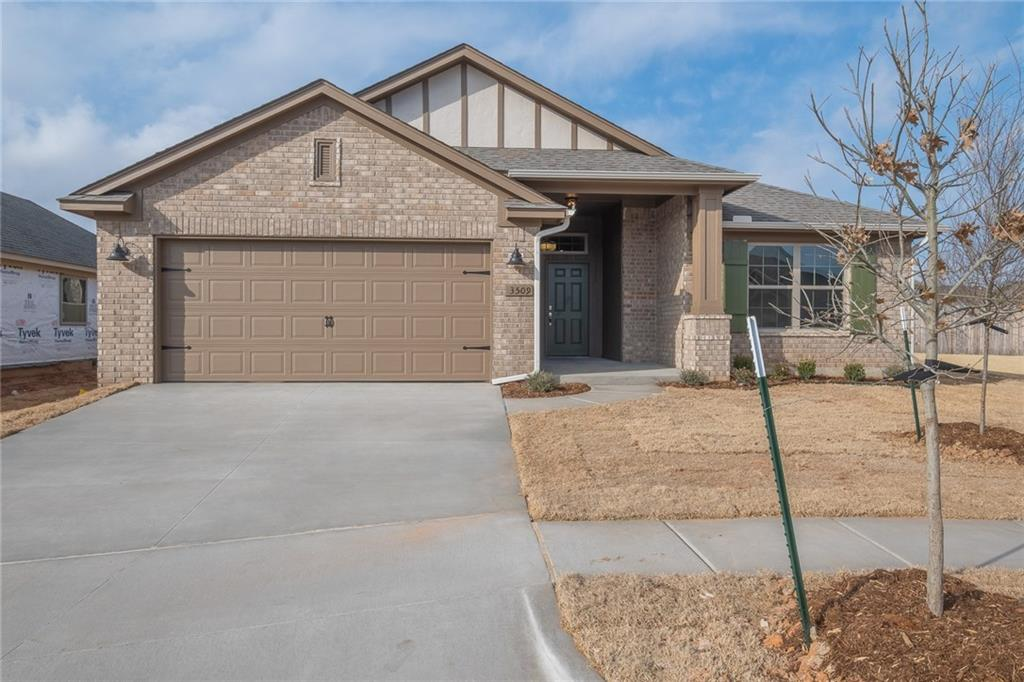 This brand new 3 bedroom home offers an open living/dining plan with indoor utility room plus outdoor covered patio. You'll love the convenience of the easy-start gas fireplace in the living area! The kitchen features stainless steel appliances with microwave, gas cook range, tile back splash, quartz counter tops, and breakfast bar. The home boasts an energy-efficient HERS score of 63, guaranteeing you low heating and cooling costs all year long. Move-in ready!
