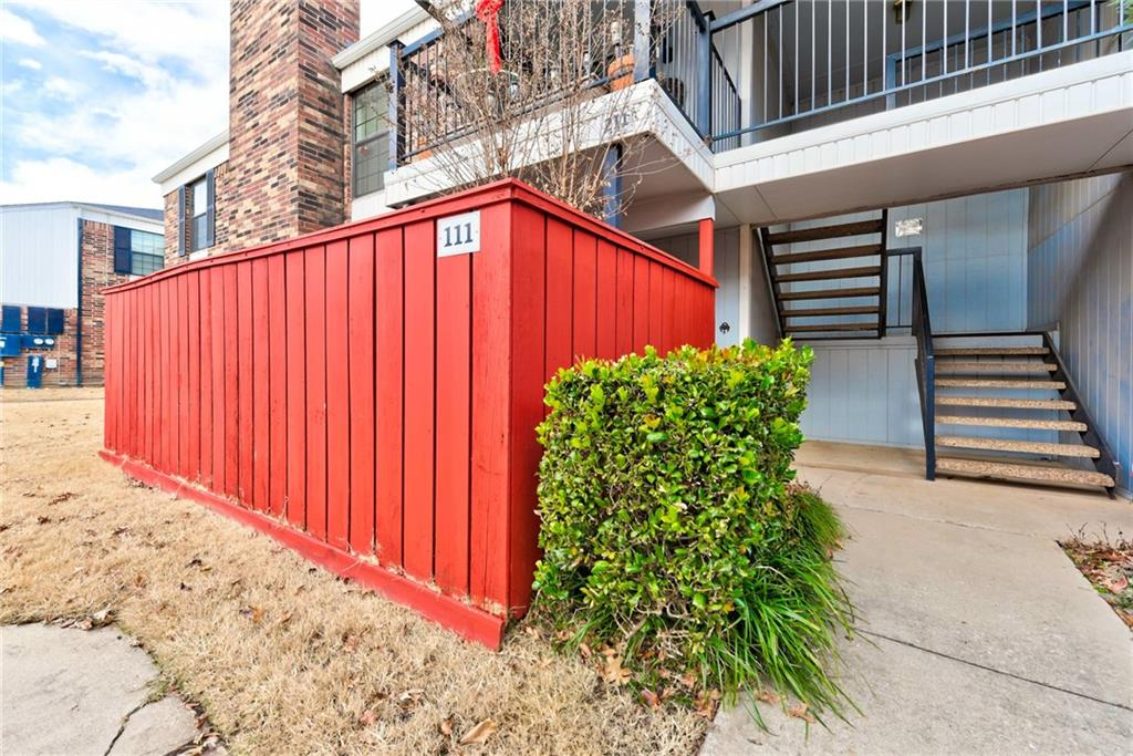 "Great lower level condo available in the highly sought after Huntington community. This condo is wonderfully located in the Interstate Square addition near Sooner Mall - plenty of shopping and restaurants nearby. With 2 bedrooms and 2 full baths, this is 896 sq ft of well designed living boasting new toilets, new faucets, and new light fixtures. Split bedroom floor plan with living and kitchen both overlooking dining in ""L' shape layout, neutral walls beautifully set off by bright white trim. Plushly carpeted living boasts wood burning fireplace, brick hearth, and large sentinel windows letting in incredible natural light. Dining features raised ceiling and gorgeous lighting. Dining flows seamlessly in to kitchen with tile flooring and stained wood cabinetry. Laundry room off the kitchen. This stunning little gem features a darling fenced entry to the porch/patio with covered and open patio space. Plus community pool! Detached garage unit #3 available for separate purchase of $10,000."