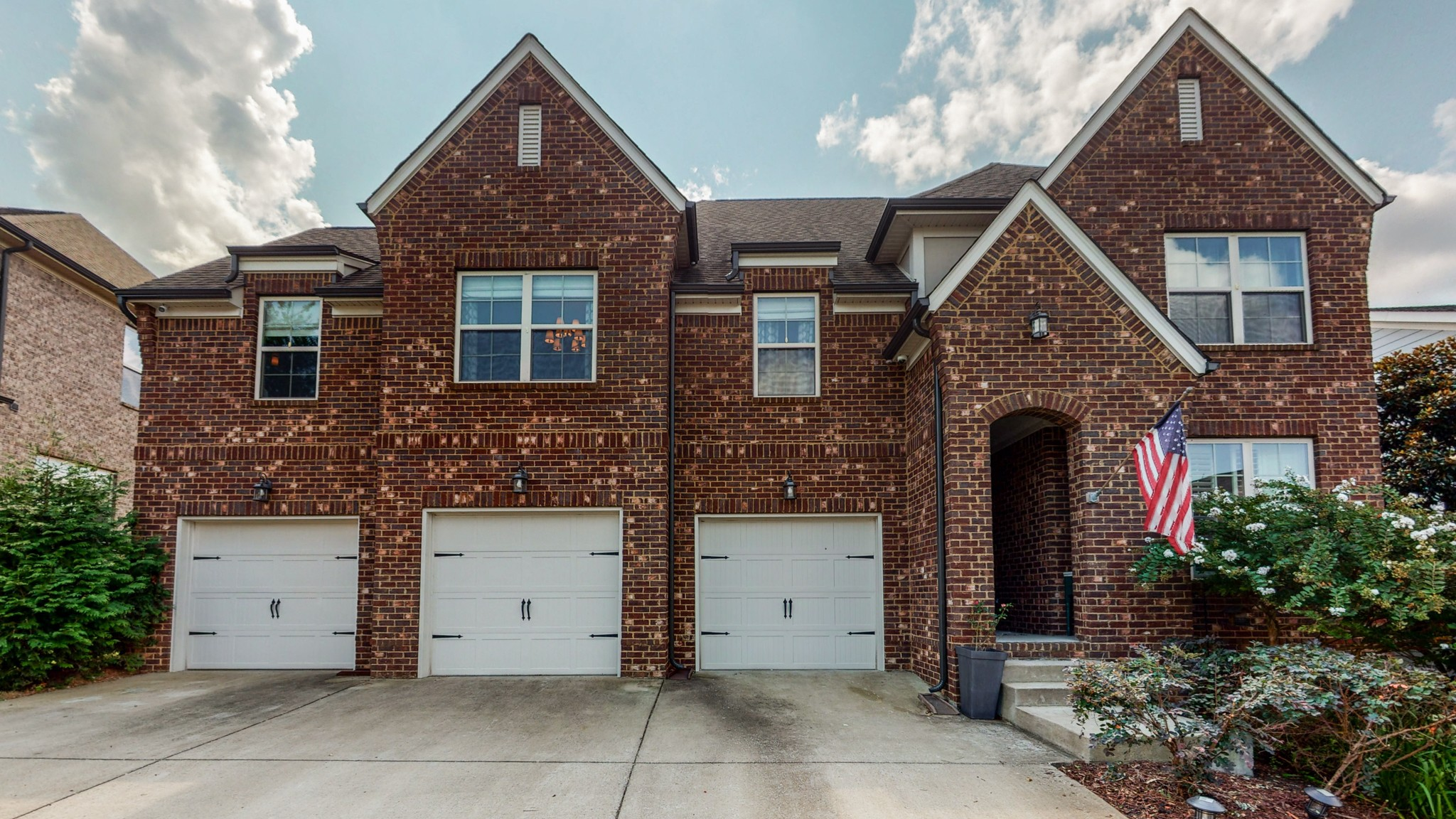 All brick, well appointed home has so many wonderful features and spaces. Each bedroom features bathroom access, primary-1st floor. Bonus room & attached media room,seating and media equipment convey! Hardwoods in main living areas. Dining room being used as office-doors give privacy. Chefs kitchen with double ovens, gas cooktop, pantry and extra storage closet right off kitchen. Huge island-granite. Wonderful covered patio with gas fireplace plus patio with pergola.Fenced back yard with garden.