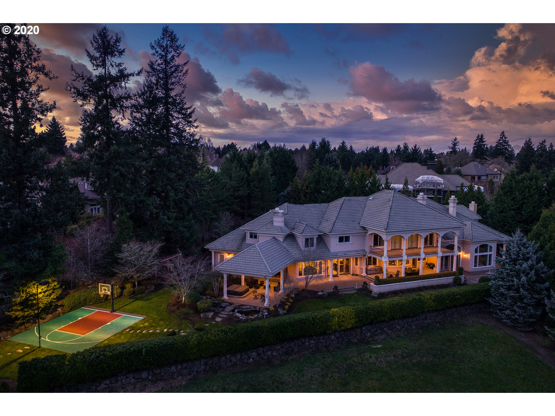 This luxurious Le Chavalier home with Palace of Versailles-inspired design & gorgeous Pacific Northwest views is a destination to come home to every day. Featuring 4 bdrms including a spacious master suite with private patio, all bdrms with ensuite baths. Stunning Mt. Hood view from the nearly 1-acre property with $100G of new landscaping. Wide arched windows and French-inspired architecture including covered balconies on both floors featuring gorgeous views. 700+ bottle wine room.