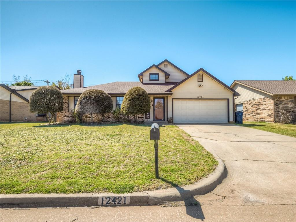Great home in NW OKC! Minutes from Mercy Hospital, Turnpike, and Hefner Parkway. Home has unique floorplan with centrally located atrium and balcony off upstairs bonus room. Perfect for spending time outside watching the game or sitting by the firepit under the lights with plenty of privacy from neighbors! Large living area on the front of the home with great brick hearth surrounded by built ins. flows perfectly into the dining room that features sliding glass doors that open to atrium. On the other side of the dining room sit the kitchen and breakfast nook. Kitchen sink is situated just under a large window that looks out into the atrium allowing for natural light to flow into the space. Master suite is generously sized with a second hearth and insanely large walk-in closet that is definitely note worthy! Two secondary bedrooms sit on the other side of the home with a hall bath as well. Upstairs bonus room can serve as an additional bedroom or study!!