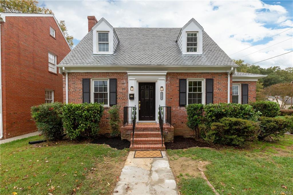 This charming all brick home with slate roof and basement is like brand new!! New windows!! New HVAC!!  New kitchen!! New appliances!! New bathrooms!! New interior paint!!  New lighting throughout!!    Hardwood floors throughout!!  Just move right in!!  AS AN ADDED BONUS, THE SELLER ADDED HEAT/AC TO THE 770 SQ. FT. BASEMENT ALTHOUGH WE ARE NOT SHOWING THAT AS FINISHED SQUARE FOOTAGE IN THE LISTING!!  Brick wall in front of home, shed, sidewalks, fireplace, chimney and flues are all sold as-is.