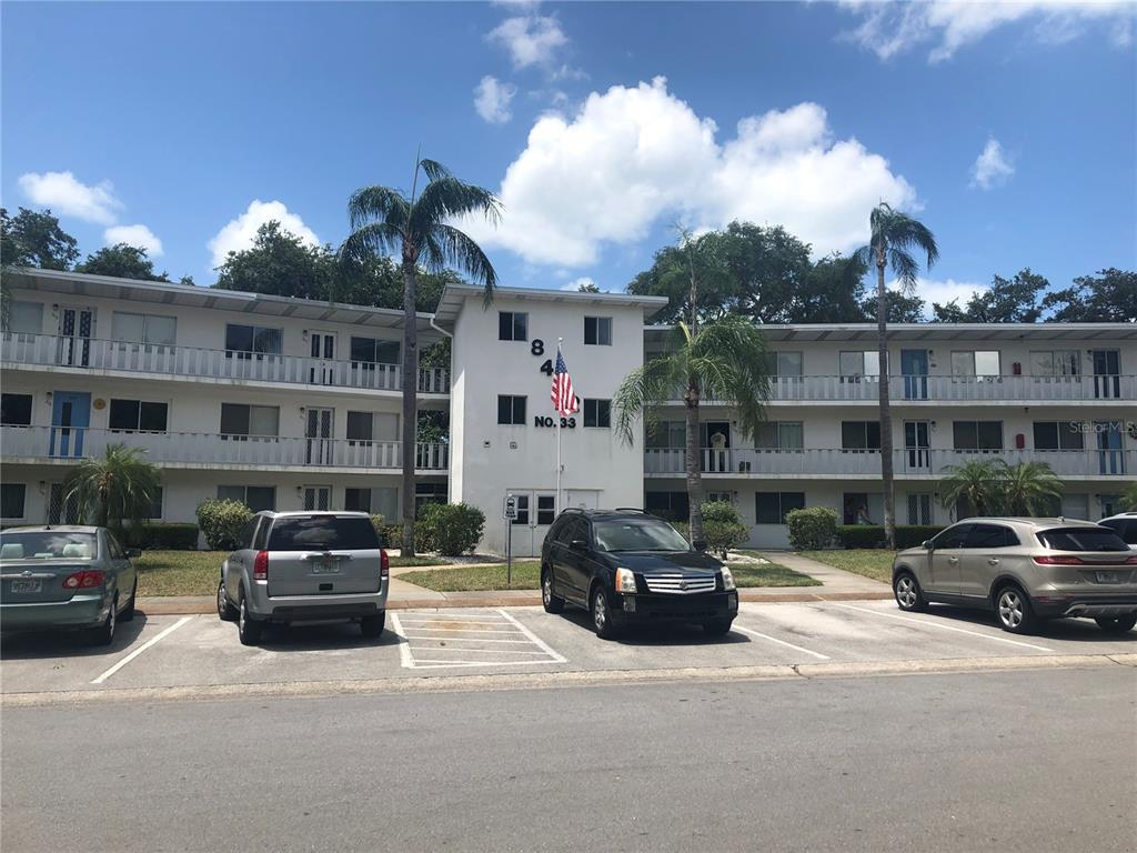 Great Seminole Location only 3 miles to Indian Shores on the Gulf of Mexico and Seminole City Center just around the corner.First floor unit with white tile floor through out .Lanai with white tile floors and patio area on Park like setting.Parking spot right out your front door.Lots of extra guest spots.Close to heated pool and spa and enjoy the sauna for good health.Low monthly fee includes taxes and land lease fee.Only $365 month.Use also as 2nd home or investment.