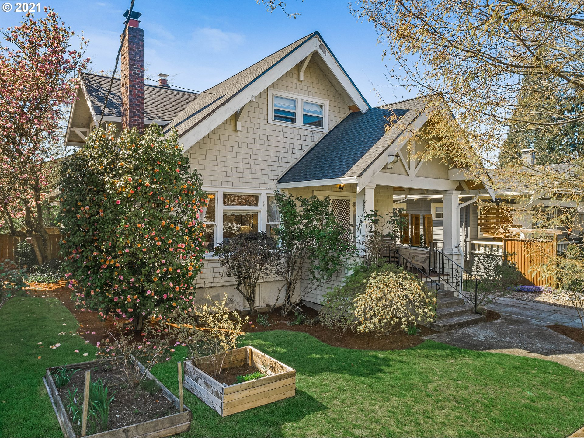 Charming Craftsman Style Home in the heart of Beaumont!!  Enjoy your morning coffee on the front porch. Four bedrooms, 3 full bathrooms, leaded glass, hardwood floors, built-ins, Fireplace with clinker bricks, oversized single detached garage with off-street parking, Beaumont Village blocks away. Walk and bikers paradise.  Walk score of 79 and bike score 99.