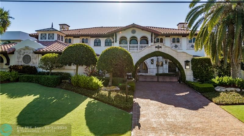 BRAND NEW LOOK!! Freshly painted inside and out, this home looks like it is brand new. You will not believe the transformation! A palatial estate with its magnificent architectural design, elaborate decor and incomparable outdoor entertaining areas, could possibly be the best of the best. From the moment you enter through the security gates and approach the custom double door entry, you feel like you have entered a new world. Every direction you look brings awe to the beholder. With 6 bedrooms + office, 7.5 baths, a separate guesthouse and an extensive list of amenities, this home is truly one of a kind.