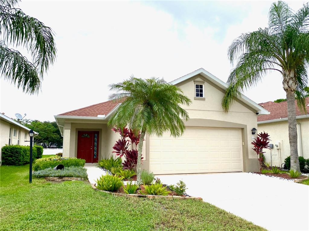 Location! Low HOA! Enjoy your morning cup of coffee while you watch the sunrise on your screen-enclosed lanai that overlooks the fountain in the lake. Minutes to restaurants, UTC Mall, less than 15-minute walk to Benderson Park, I-75 or a short drive to downtown and the beautiful beaches.  Upon entering, you are greeted with a front covered porch, entry foyer, tall ceilings and wide-open living throughout with a double tray ceiling in the dining area. The expansive master suite is tucked away in the rear of the home for privacy, offering a spa-like retreat with a large tray ceiling and a walk-in closet.  There are two other bedrooms with laminate flooring and a guest bath, as well as interior laundry. Ideally situated for runners and bicyclists just a half-mile from the southern entrance of Benderson Park. You will also appreciate its proximity to local beaches.  Schedule your tour today!