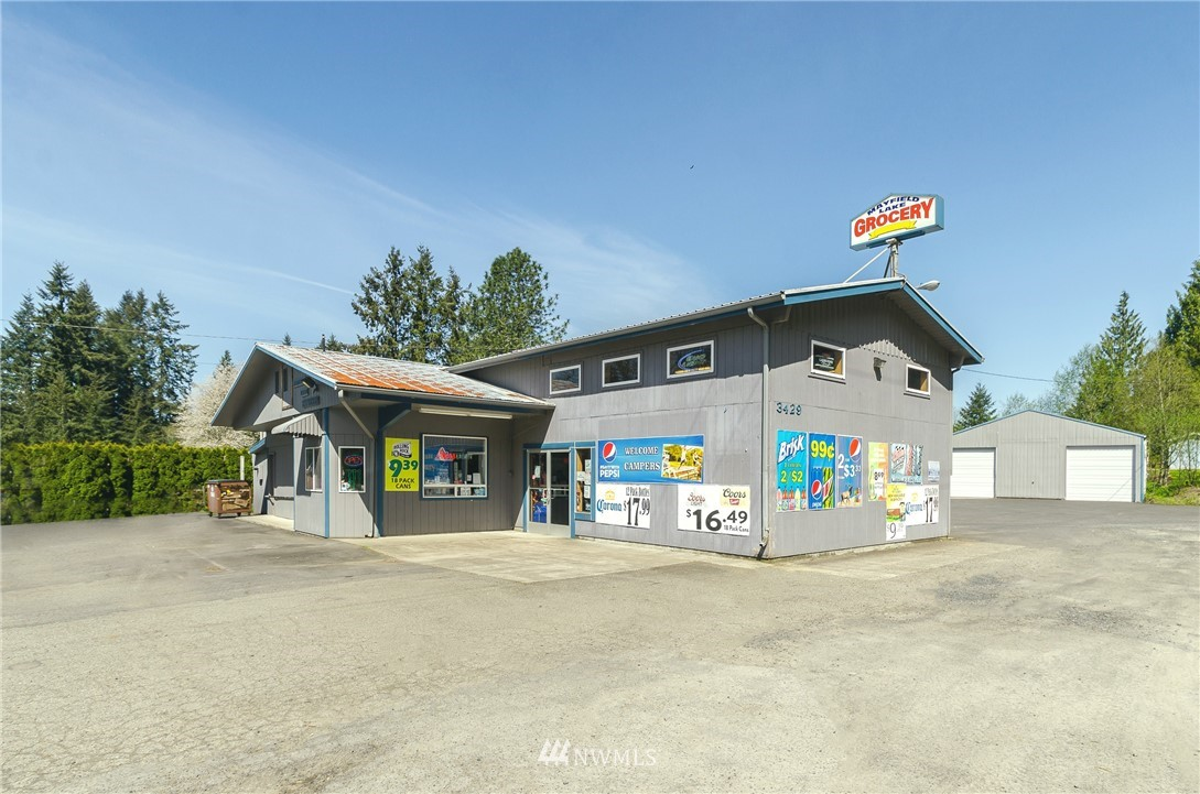 Great opportunity ! very well kept, established market on high traffic route that services a heavy tourist season, as well as year round local shoppers. Set directly off busy Hwy 12 w/plenty of paved parking, this is a must stop for travelers heading to Mt Rainier, White Pass, Riffe Lake, Mayfield Lake & numerous recreational activities. Current owners sell beer, wine snacks, propane, grocery, camping & household items. Large warehouse w/loft for storage & walk-in freezer. Profitable location!