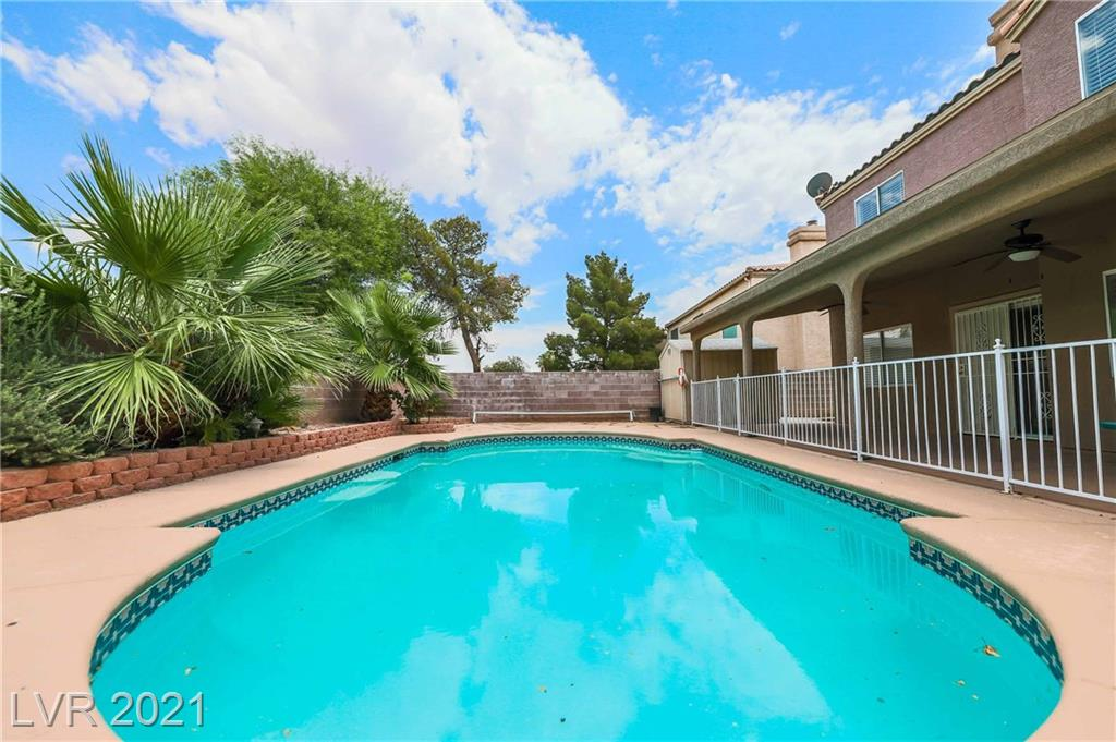 VERY RARE hard to find POOL home backs to park very private (NO HOA), UPGRADES GALORE! Kitchen offers Granite counters, backsplash, stainless sink, all STAINLESS STEEL appliances stay. Man-made Laminate & Tile throughout home. Every huge Bedroom with Walk-In Closets, Primary Master Bedroom with 2 Large Walk-In Closets, You can Entertain Inside or Outside, Plenty of Space Everywhere! This Home was Built with A Great Layout Not Losing Space ANYWHERE! No Neighbors behind, Large Covered Patio extends full length of home with Ceiling Fans, Large Detached Storage Shed. Ready for You to Come Home and Enjoy! GREAT LOCATION! CLOSE FREEWAY, SHOPPING AND RESTAURANTS! Ready for move in! YOU CANT FIND THESE ANYMORE MASSIVE HOME SHORTAGE NO END IN SIGHT DONT DELAY CLICK TODAY