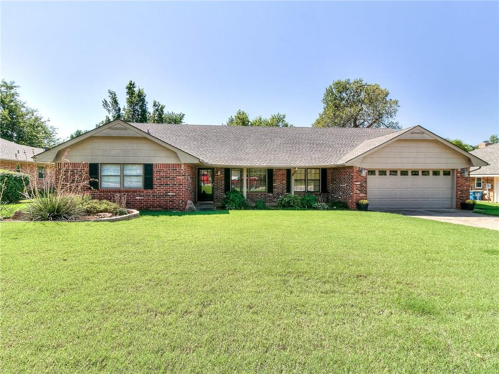 This well maintained home in Cedar Ridge Addition & the highly sought after Edmond School District is move in ready! The home is an entertainer's dream with two living areas, a wet bar in the main living room, formal dining, & large eating area in the kitchen. The main living area boasts beautiful hardwood floors, wood beams on the ceiling, a stone accent fireplace, & a large built-in wet bar with sink. The oversized kitchen has stainless appliances & Frigidaire double ovens, pantry, large eating area, access to the formal dining & main living rooms, & an abundance of cabinets & countertop space. A laundry room with half bath is well placed off the kitchen & entry to the garage. Recent updates to the home include a new roof (Aug 2019), new water heater (Nov 2018), & a garage door opener (Aug 2019). Home has convenient access to the Kilpatrick Turnpike & I-35 & is minutes from shopping & dining options at Spring Creek Plaza at 15th & Bryant. Welcome home!