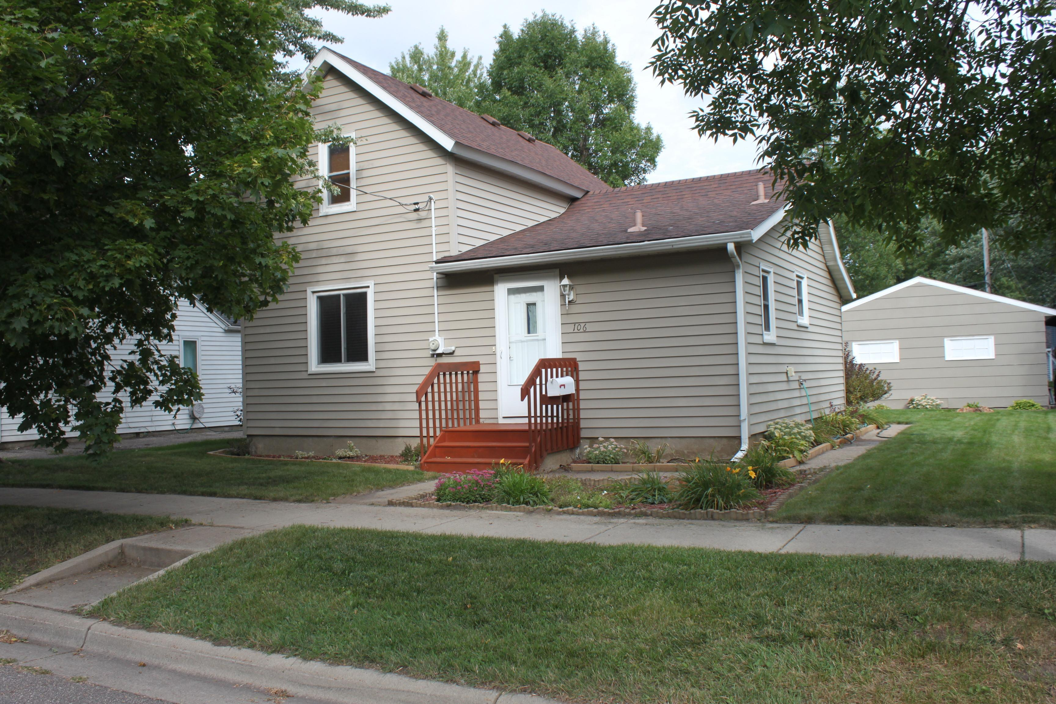 Tasteful warm and well appointed home with oak 6 panel doors, tile and laminate wood floors, recessed lighting and ceiling fan lights (all LEDs), in closet lighting, and 20x12 deck overlooking back yard. Landscaping with perennials and mature trees for shade. 2 car detached, heated garage, plus carport and large concrete drive for boat, RV, toy(s). Metal siding, vinyl windows, high efficiency gas FA heat, and main floor laundry. Neat and well maintained affordable home.