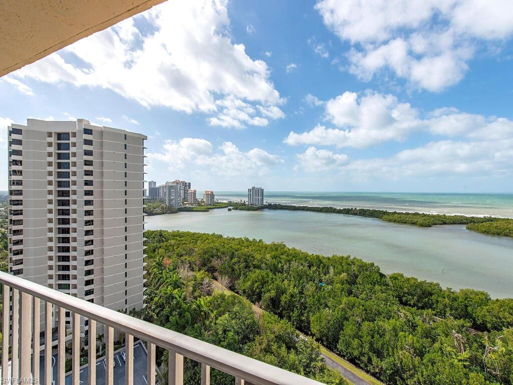 This beautiful, 17th floor condo boasts one of the premier views in all of Naples.  St. Nicole is one of the closest buildings to Clam Pass, giving you the views other high rises simply cannot offer.  With 2 private terraces, there is plenty of outdoor space to entertain your friends and family.  After the sun sets, relax and enjoy the sparkling lights of the luxurious Park Shore skyline.  The kitchen was renovated to create an open floorplan.  All the windows and sliders have been upgraded to impact glass, New Washer/Dryer, New Induction Stove, New Kitchen Cabinets, and New AC Unit.  St. Nicole offers two guest suites, on-site manager, gracious front desk staff, pool/spa with BBQ grills along with a community room with a kitchen, card room, exercise room and billiards room.  Located steps from Waterside Shops, Artis (Naples Philharmonic) & the Naples Art Museum.  Pelican Bay sets the bar when it comes to its luxury living with exclusive amenities including Private Beach Access, Beachfront Restaurants, Canoeing, Tennis, state-of-the-art Fitness Center and Wellness Studio. Minutes to Downtown Naples and the Mercato.  This is the quintessential Naples Lifestyle you have been seeking!