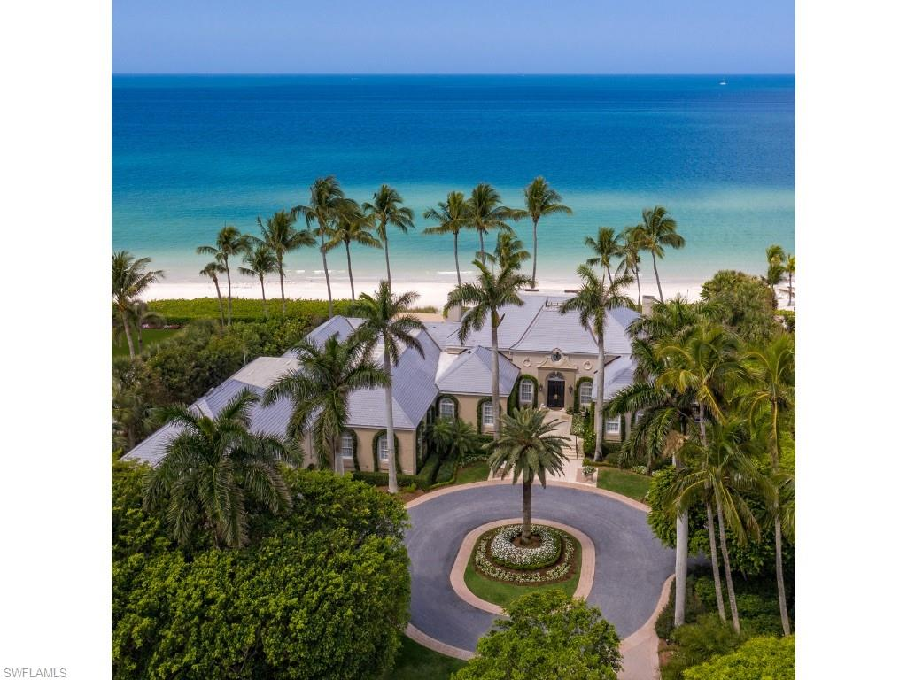 One of the most glorious and sought-after settings for a beachfront estate in Naples, Florida. Seven Bedrooms. Formal and casual entertaining opportunities. Sublime landscaping. Expansive Gulf of Mexico panorama. With Port Royal Club membership eligibility, being located just south of the Port Royal Club enables convenient access to the Club's world class amenities.