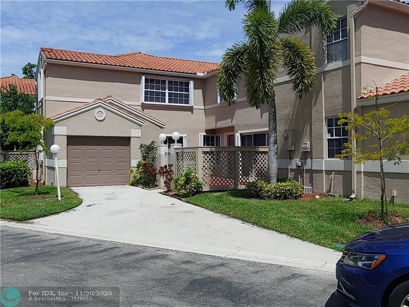 Gorgeous 3 bedroom 2 1/2 bath townhouse located in well-known gated community of embassy courts. Tile and laminate floors all around.  Accordion shutters, spacious kitchen. Large master suite with walk in closet. Private fenced front patio. Well maintained and with the  advantage of all the embassy lakes amenities.  Beautiful community pool area, club house, exercise room, tennis, basketball, volleyball & kids playground. Cooper city is one of the most demanded cities in the county.  Great assigned schools.  Lots of restaurants and shops in the area.