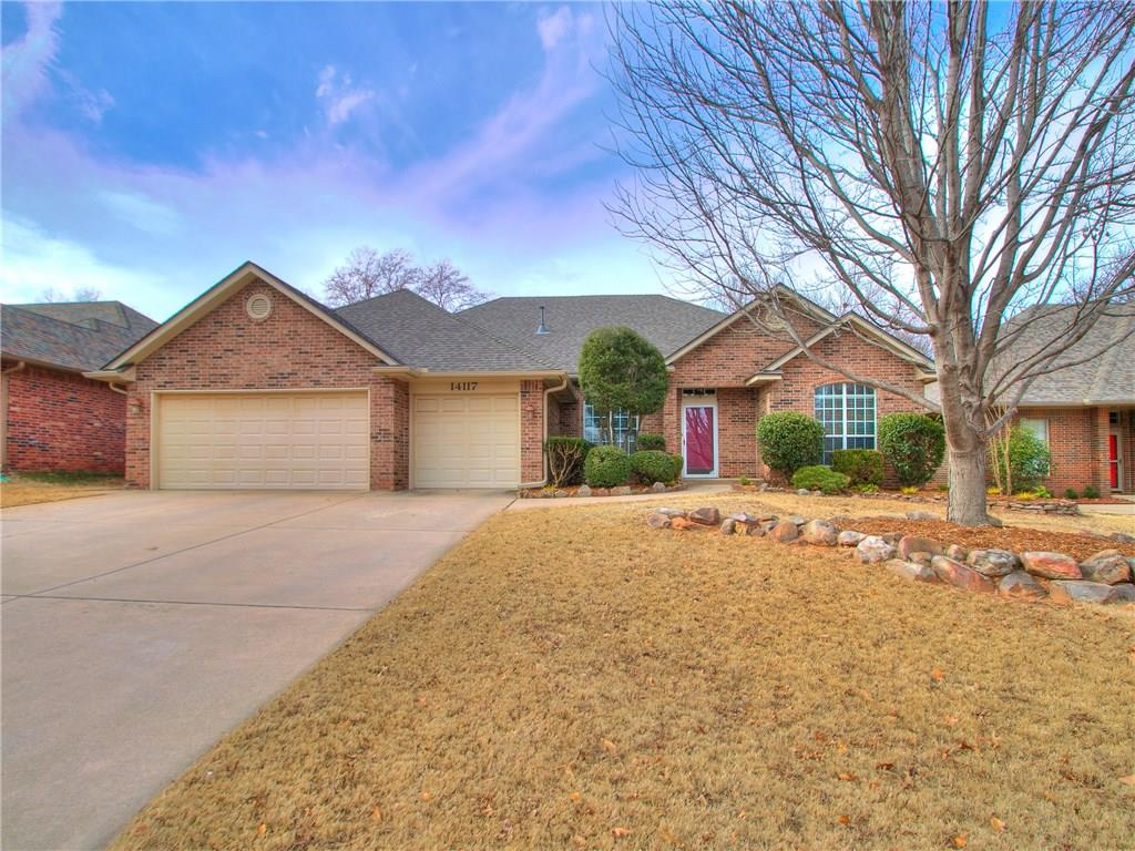 Wow you will love this home! Great curb appeal well maintained home with a 3 car garage located in Edmond near I-35. Spacious open layout. Large living with a cozy fireplace. Dining room to host those dinner parties. Spacious kitchen with tons of cabinets and large cooking area. Nice eating space off the kitchen. Large spacious backyard for the kids/fur babies to play. Large master with an inviting tub to relax. This home is absolutely wonderful!