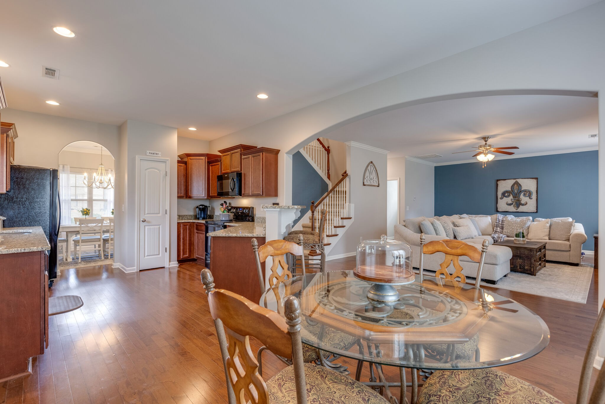 Rare 4 bedroom, 2.5 bath culdesac home!  Hardwoods on main level, granite counters, fireplace, cozy covered patio, neutral paint plus a bonus room!  So much space to spread out!  Lots of natural light, easy access to interstates...this cutie is ready to move in!  Come See!