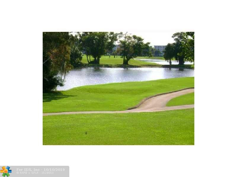 Great investment-Tenant Occupied Paying $1200.00 per month-thur Feb 2020 tenant will renew until Feb.2021, So you won't have to buy & leave empty for 1 year as condo rules require. Great building on Golf course-bld next to pool- Sun all day- Close to beach-Publix shopping 3 blks away-Crown mlds, laminate floors -Custom built in wall unit- A/C replaced recently- Ideal for investor. Pool area & BBQ just steps away. Approx. 6 miles to beach and close to all major highways & shopping. Maintenance includes Comcast TV & Internet service
