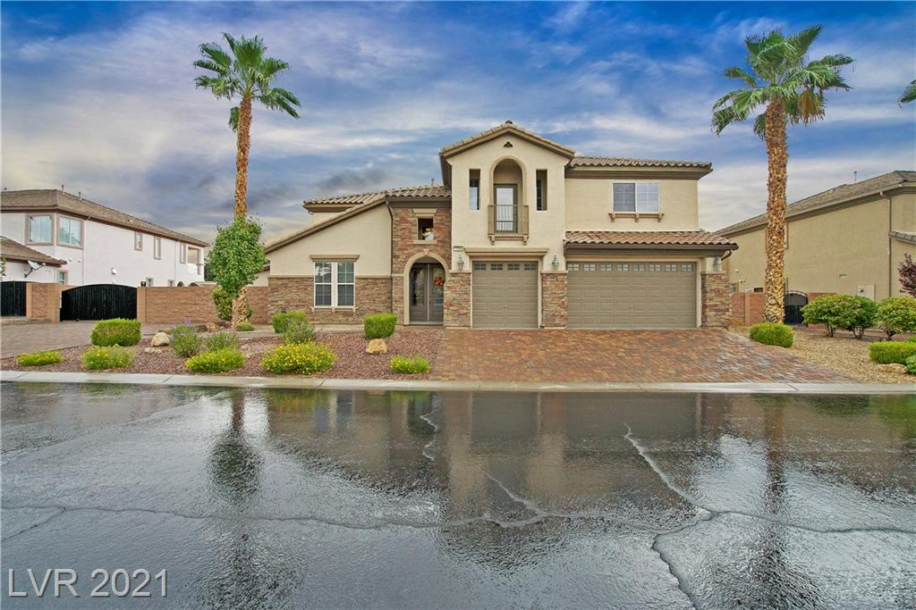 *MUST SEE*  5464 sq ft former Model w/ upgrades throughout in the highly sought after gated community of White Horse South! There are 6 over sized bedrooms including a 2 story master suite w/ sitting room & private stairs. Total of 5 full bathrooms and 1 half bath. NextGEN Suite with sitting area, ADA compliant bathroom, private entrance, separate heat/AC/ & water heater. Beautifully refreshed kitchen with MASIVE island, extra-large fridge/freezer, undermount lighting, full backsplash. Butlers pantry w/ wine fridge. Large custom pantry great for extra storage. Lovely wood floors in main areas! Travertine in bathrooms and laundry. Huge bonus room upstairs.  Heated pool/spa with 5 ft. custom wrought iron fence and in-floor self-cleaning system. Large covered back patio & upper deck. TONS of extra parking & power side gate. Full RV Hookups.  Raised garden beds w/ irrigation can stay or go. This .40 acre lot has plenty of room left for you to customize! Great price per sq ft on this home.