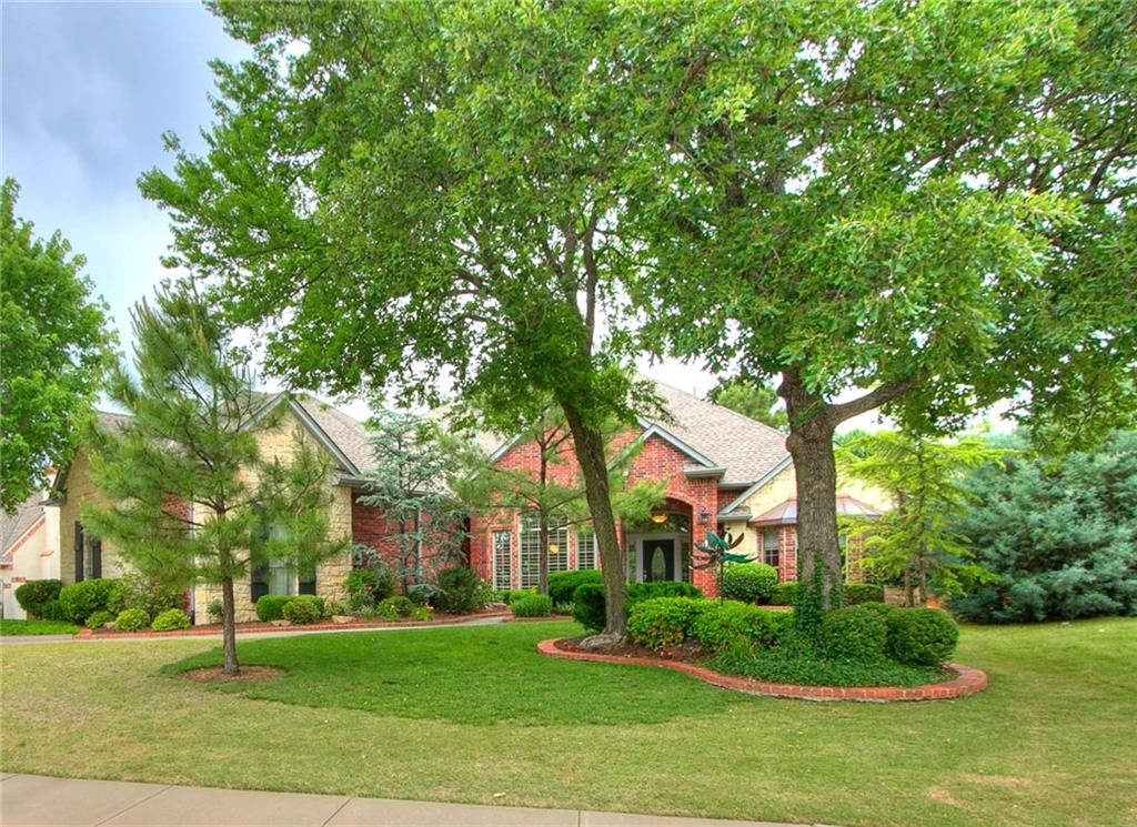 Beautiful, recently redone 4 bedroom, 3 1/2 bathroom home in one of Edmond's most beautiful neighborhoods, Olde Edmond! Open & spacious split plan-Master bedroom is opposite of the other beds & everyone gets their own space--perfect for those not-so-quiet kiddos! Handsome hardwood and quality tile floors throughout. Stunning finishes, fabulous fixtures, and soaring ceilings in every room. Unique & gorgeous granite in the kitchen, utility, & bathrooms! Large windows and solar tubes throughout offer tons of natural light. Loads of built-ins make for plenty of storage around this home! Spacious upstairs bonus has full bathroom and walk-in closet, perfect as a 4th bedroom suite. The well appointed kitchen has stainless steel appliances, beverage fridge, breakfast bar, & access to the backyard. Relax under the covered or the open patio overlooking the backyard. The over-sized sideload 3 car garage has epoxy flooring & extra storage closet. Roof replaced 2/2019. Look today before it's gone!
