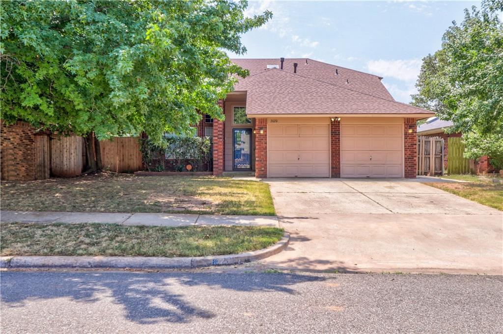 Great Location on the South Side of Norman! Living Room has Wood Floors, Vaulted Ceiling and Wood Burning Brick Fireplace. Kitchen has Updated 20 inch Tile, Plenty of Cabinet and Counter Space, Dining Area and Frig. Master is Down with Stained Concrete Floor, Double Vanities in Master Bathroom with His and Her Closets. Large Laundry Room with Storage and Hanging Space. 3 Bedrooms Upstairs with Full Bath. Interior Attic Access with Floored Storage Space. Back Fence has Large Gate Access for Parking or Storing in the Backyard.