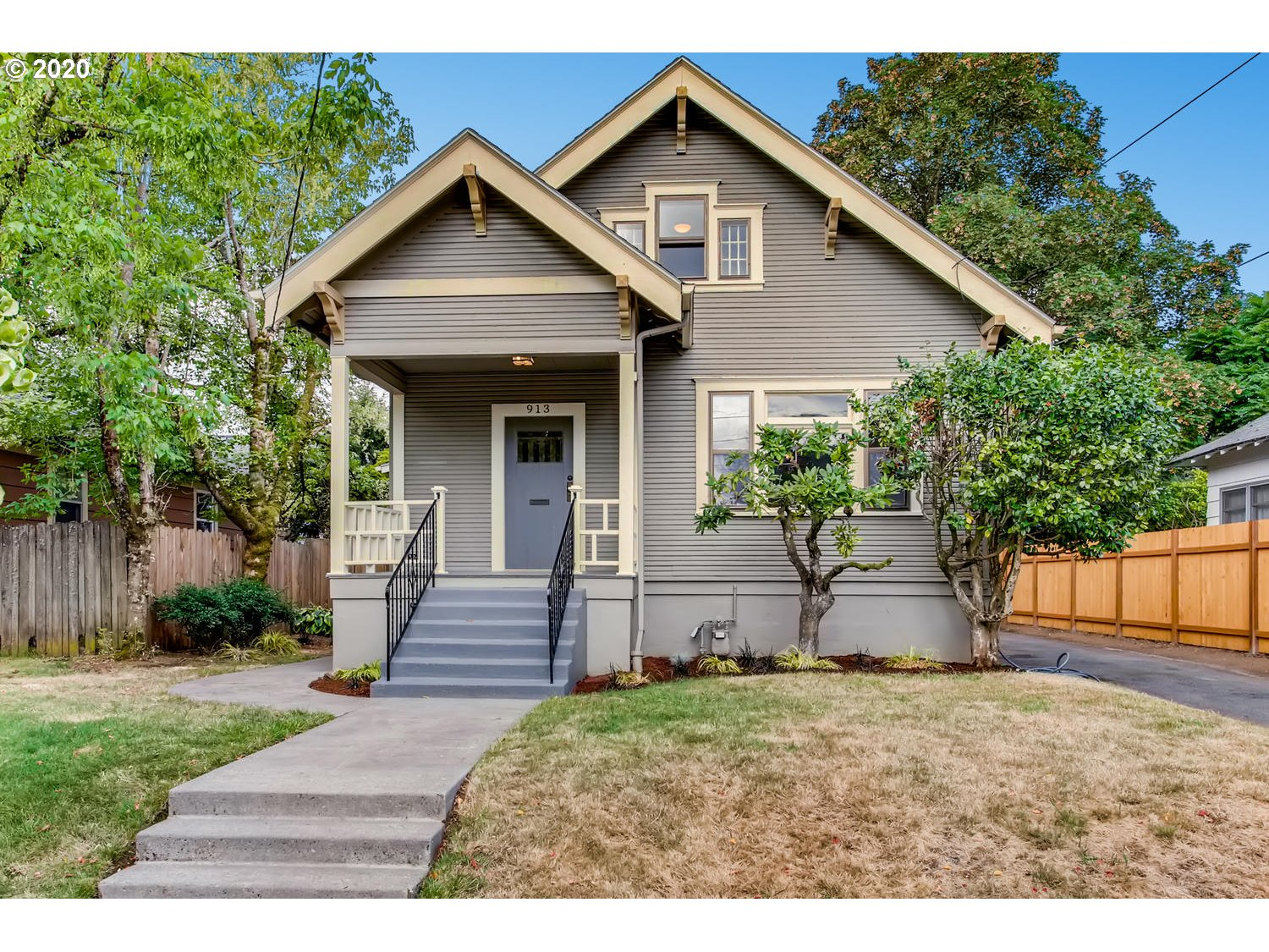 This is a charming 1912 American Bungalow! This sun drenched home is 2200sf, 3 beds, 1 bath & its stunning architecture welcomes your friends & family with its front porch & adorned vestibule entry. The home features high ceilings, generous room sizes, loads of period moldings, original bay windows, corbels, refinished fir floors & a large grassy yard with a perfectly placed patio. The home is heated with a gas & located on a fully fenced oversized lot in a great neighborhood! Hurry on this one!